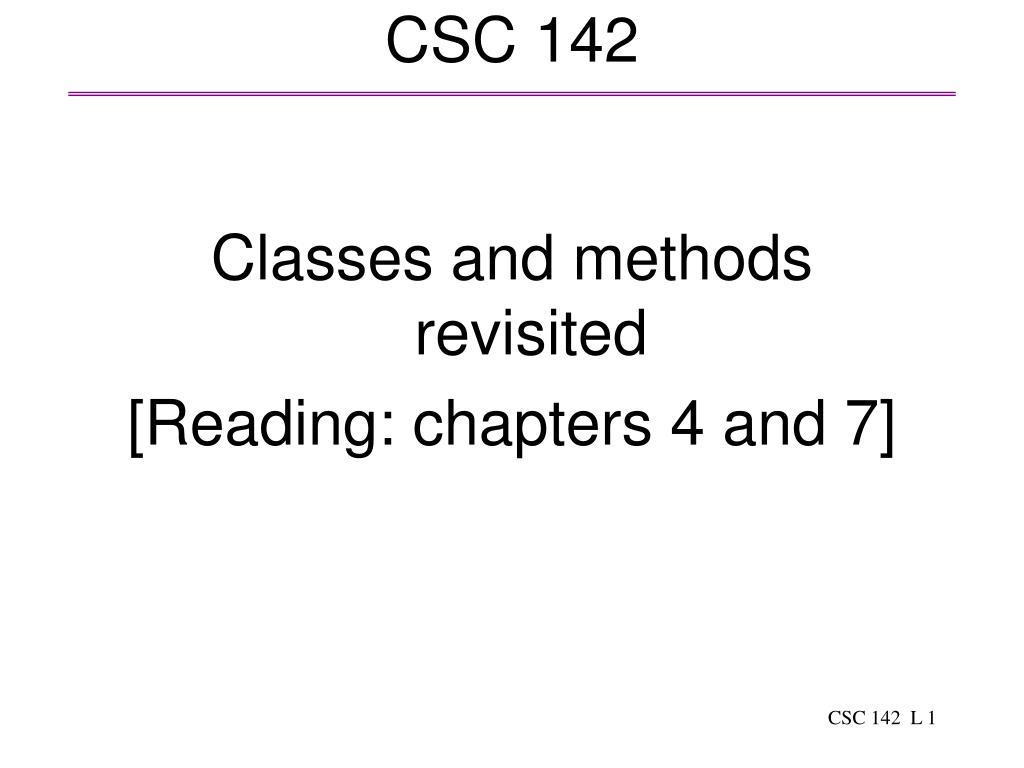csc 142 l.