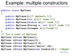 example multiple constructors