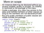 more on scope