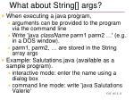 what about string args