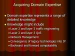 acquiring domain expertise