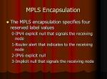 mpls encapsulation