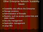 other enterprise network scalability issues