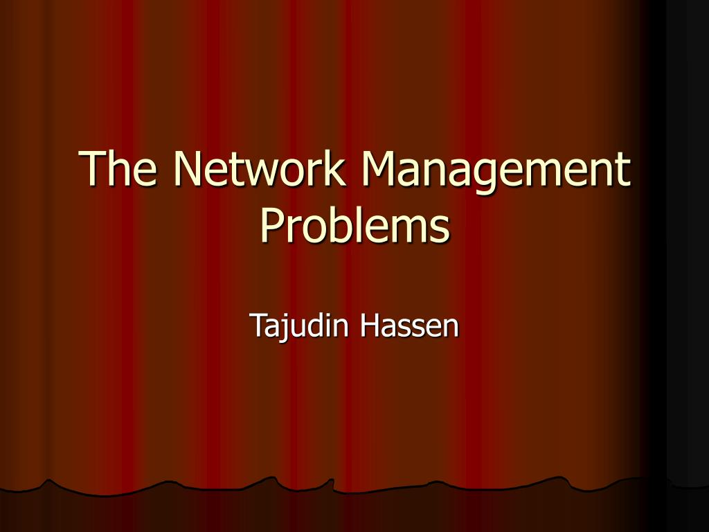 the network management problems l.
