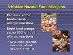 a hidden hazard food allergens