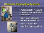 chemical dispensing systems