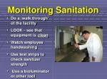 monitoring sanitation