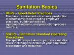 sanitation basics