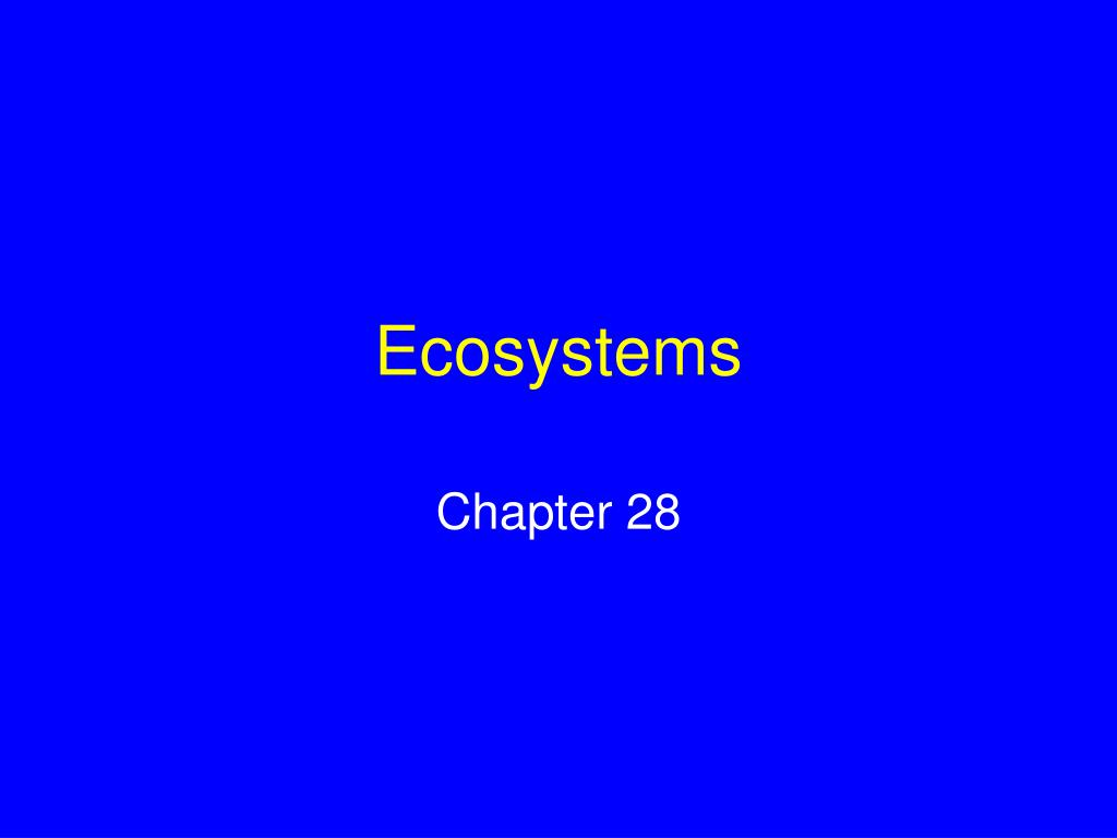 ecosystems l.
