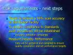 ecr requirements next steps