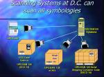 scanning systems at d c can scan all symbologies
