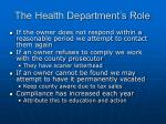 the health department s role23
