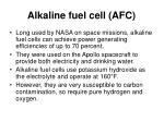 alkaline fuel cell afc