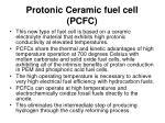 protonic ceramic fuel cell pcfc