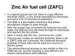 zinc air fuel cell zafc