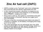 zinc air fuel cell zafc15