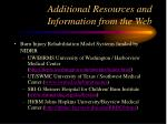 additional resources and information from the web19
