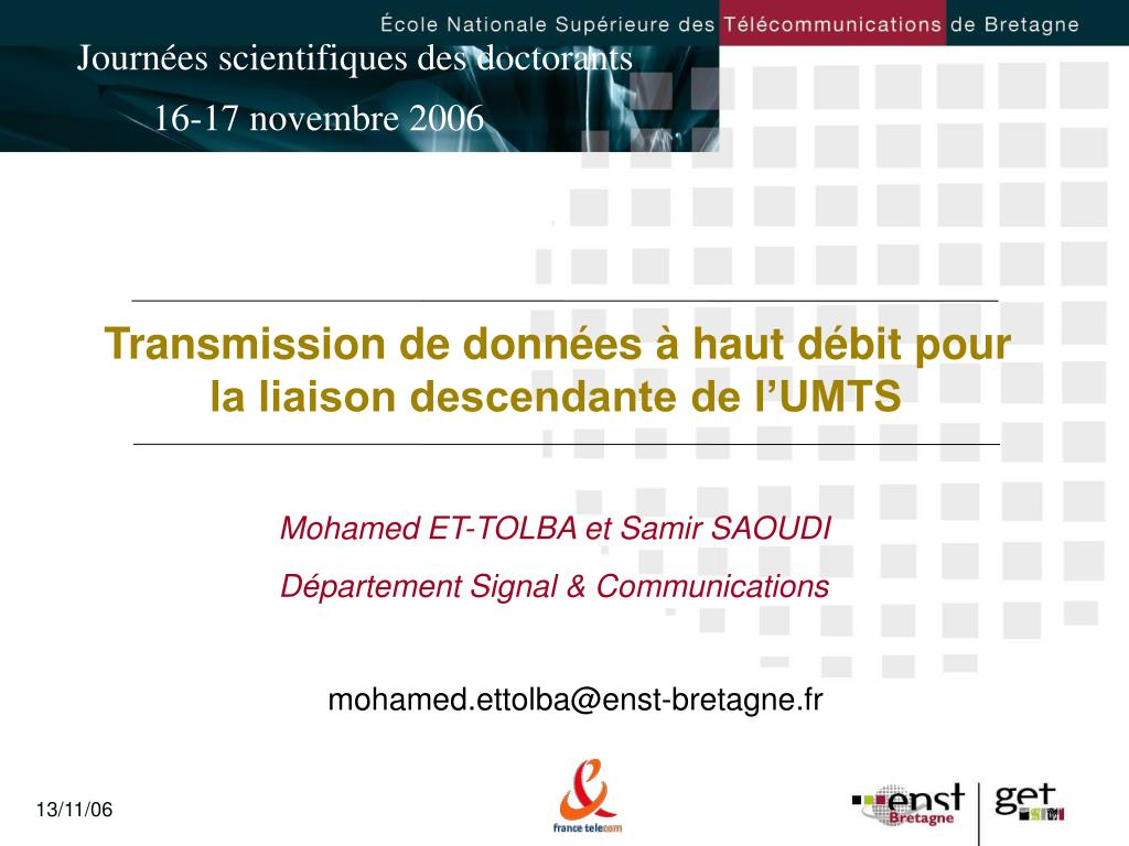 mohamed et tolba et samir saoudi d partement signal communications l.