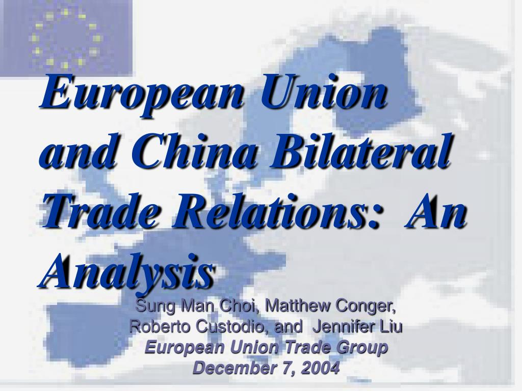 european union and china bilateral trade relations an analysis l.