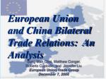 european union and china bilateral trade relations an analysis