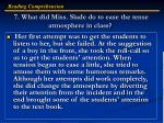 7 what did miss slade do to ease the tense atmosphere in class