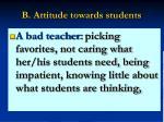 b attitude towards students13