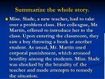 summarize the whole story
