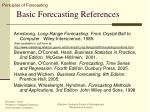 basic forecasting references