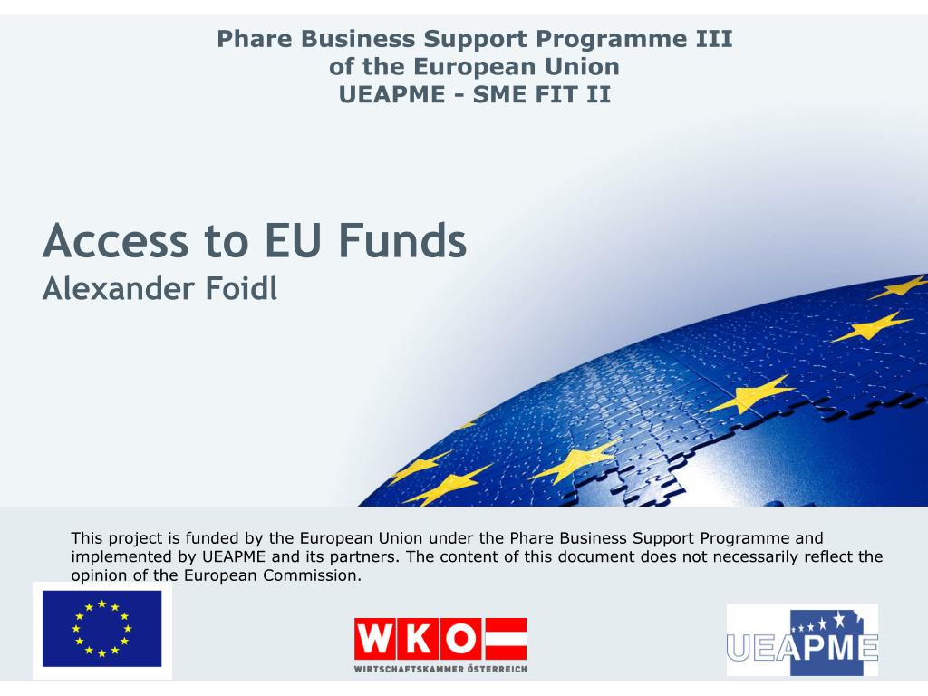access to eu funds alexander foidl l.