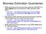 biomass estimation quandaries