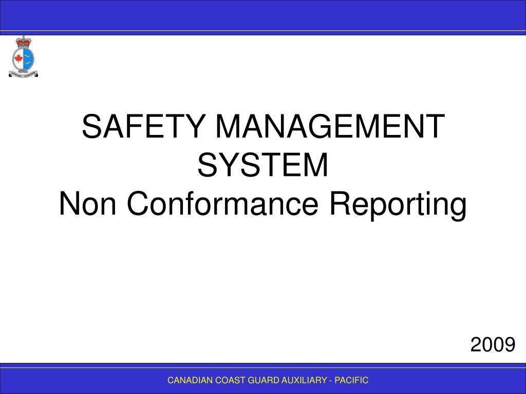 safety management system non conformance reporting l.
