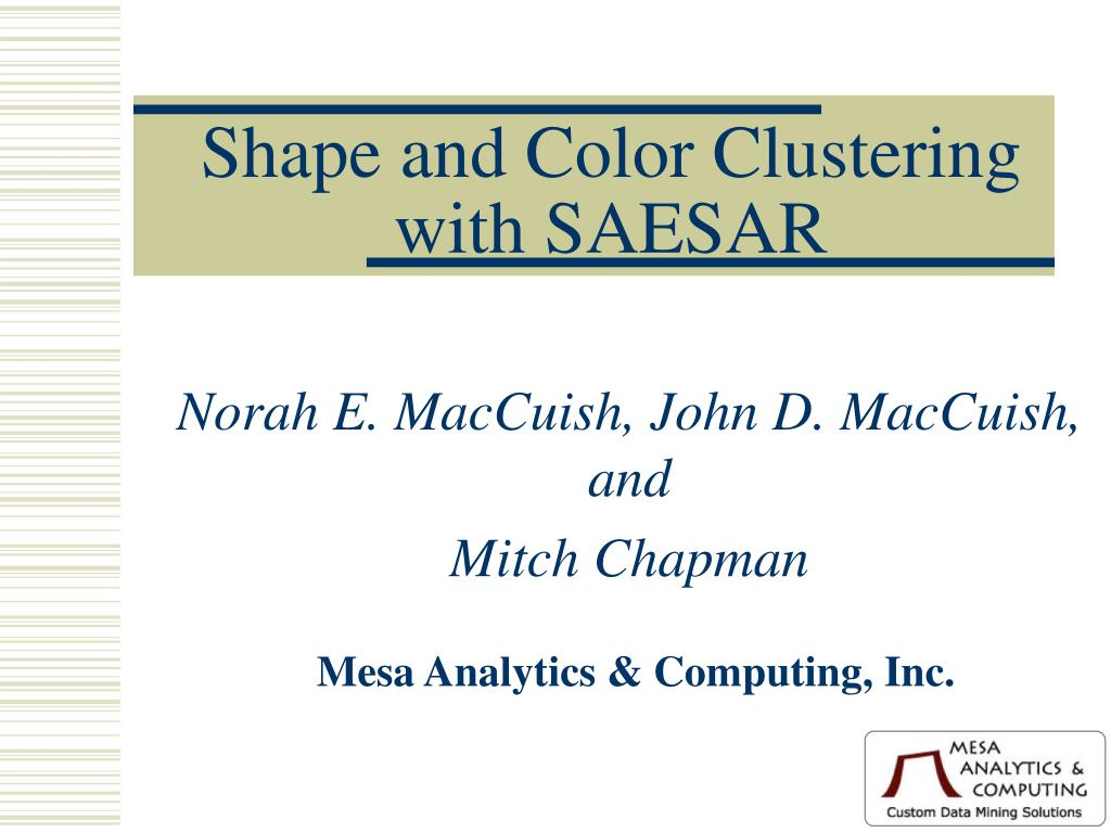 shape and color clustering with saesar l.