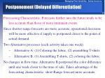 postponement delayed differentiation