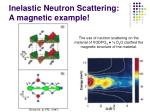 inelastic neutron scattering a magnetic example