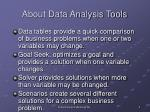 about data analysis tools