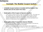 example the mobile coupon system