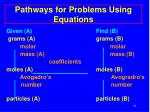 pathways for problems using equations21