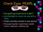 check eyes pearl