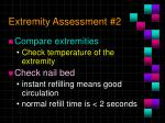 extremity assessment 2