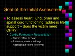 goal of the initial assessment