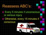 reassess abc s
