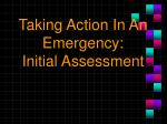 taking action in an emergency initial assessment