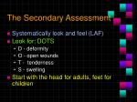 the secondary assessment18