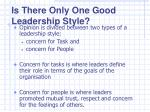 is there only one good leadership style