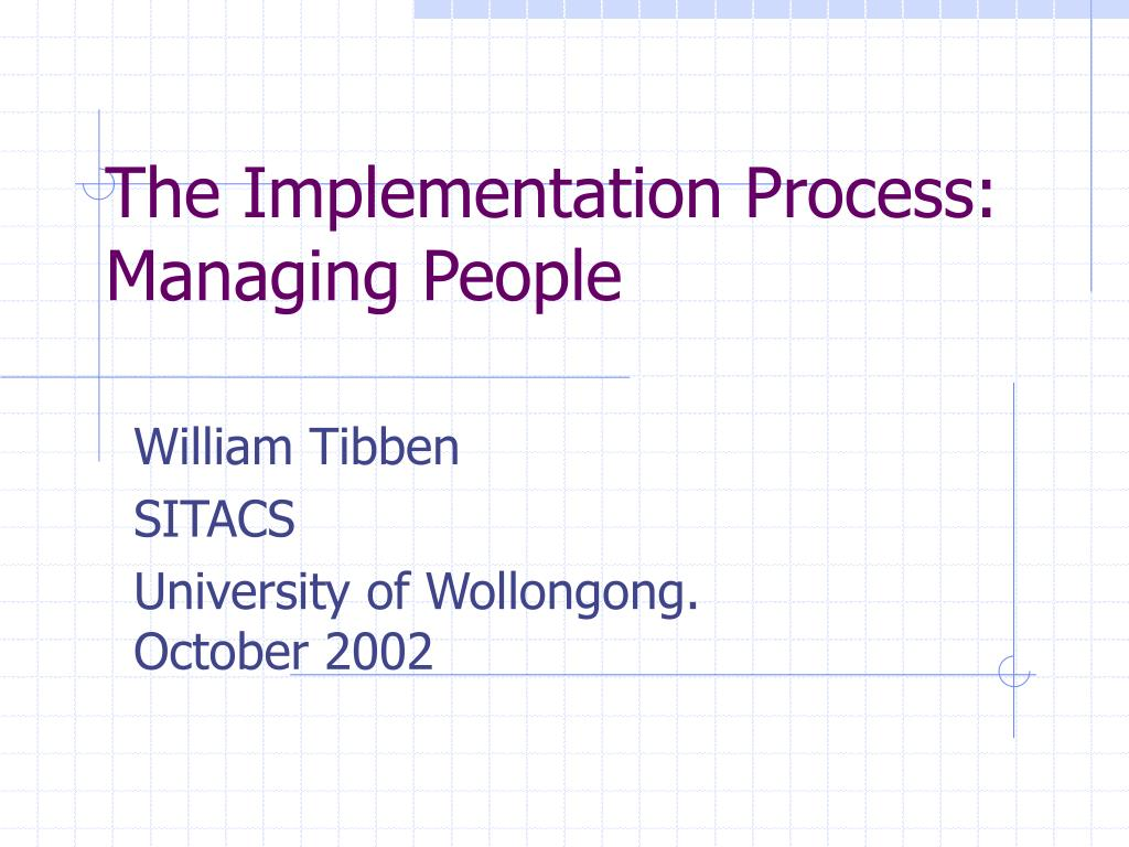 the implementation process managing people l.