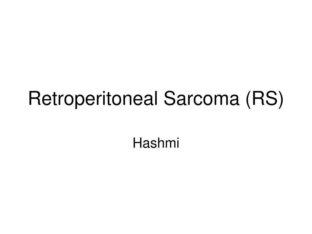 retroperitoneal sarcoma rs l.