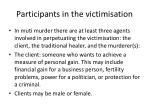 participants in the victimisation