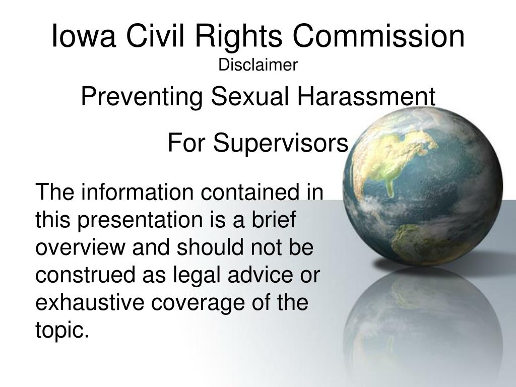 iowa civil rights commission disclaimer l.