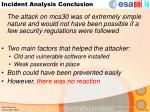 incident analysis conclusion