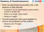 summary of countermeasures